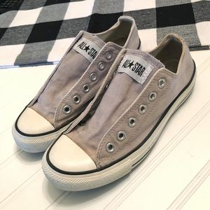 Gray ish converse! (No laces)